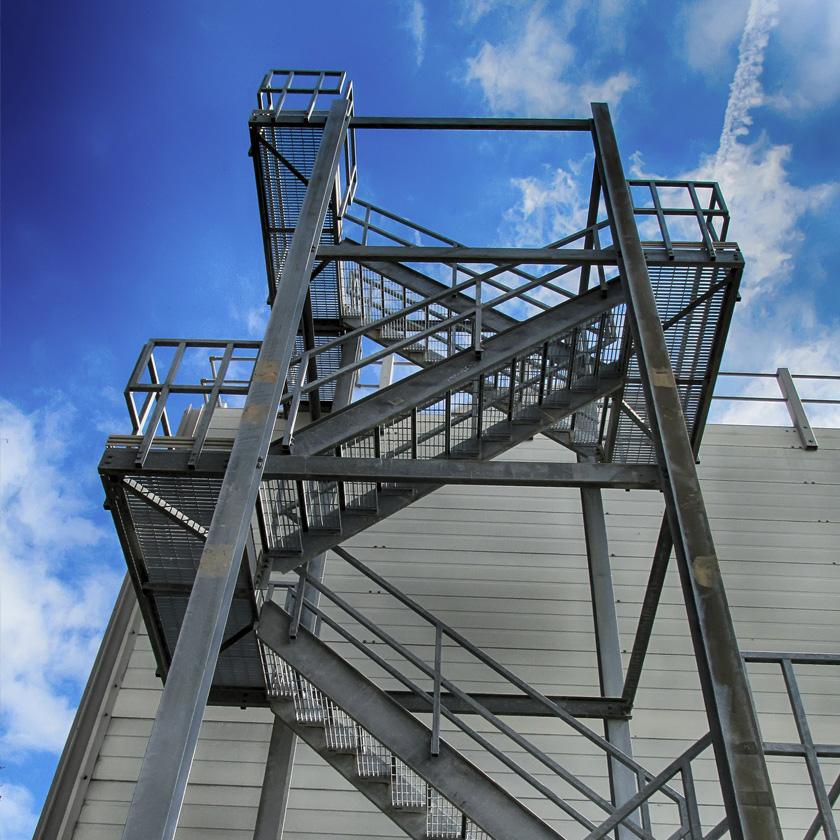 Stahlbau Treppenturm